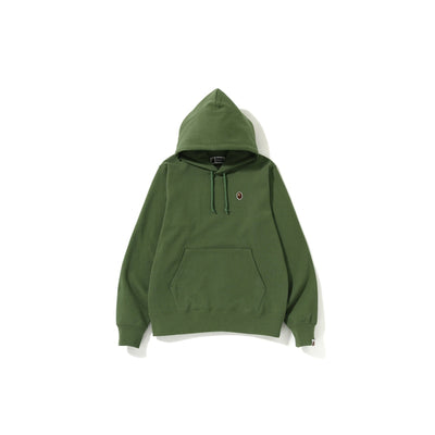 "A BATHING APE SILICON ONE POINT PULLOVER HOODIE  "" GREEN """