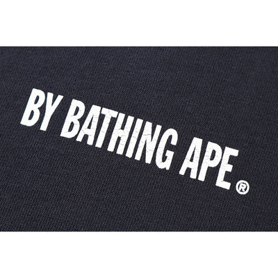 "A BATHING APE WASHED WIDE CREWNECK  "" BLACK """