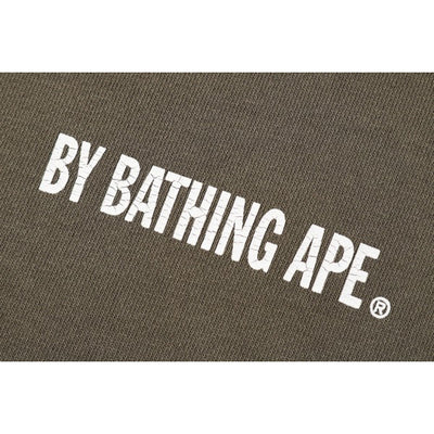"A BATHING APE WASHED WIDE CREWNECK  "" GREEN """