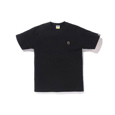 "A BATHING APE APE HEAD ONE POINT TEE "" BLACK """