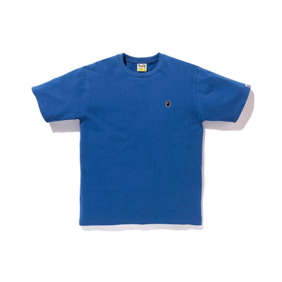 "A BATHING APE APE HEAD ONE POINT TEE "" BLUE """