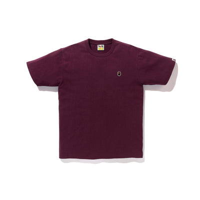 "A BATHING APE APE HEAD ONE POINT TEE "" WINE """