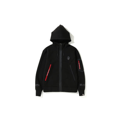 "A BATHING APE RELAXED DOUBLE KNIT FULL ZIP HOODIE  "" BLACK """