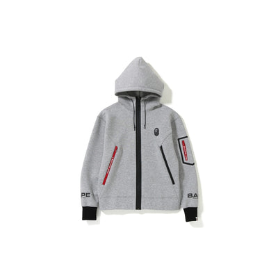 "A BATHING APE RELAXED DOUBLE KNIT FULL ZIP HOODIE  "" GREY """