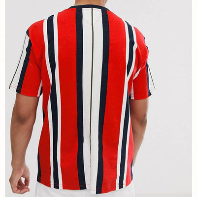TOMMY JEANS FLAG LOGO STRIPE TEE