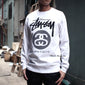 Sophnet. x Stussy Stock Link Crew Neck Sweat ( White ) - Clothing - BlackStory