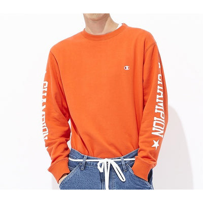 Champion Small Logo Sweatshirt with Sleeve Logo