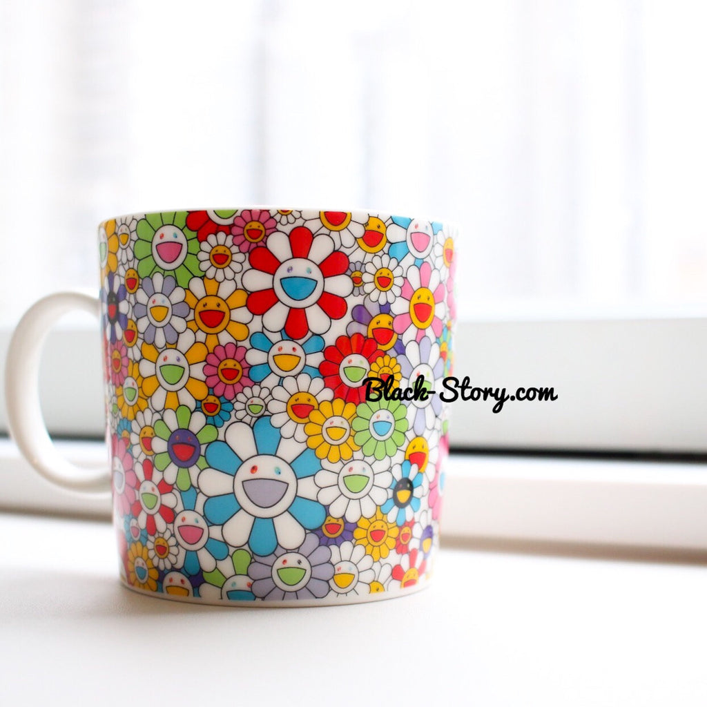 Takashi Murakami Flowers Coffe Cup - Accessories - BlackStory