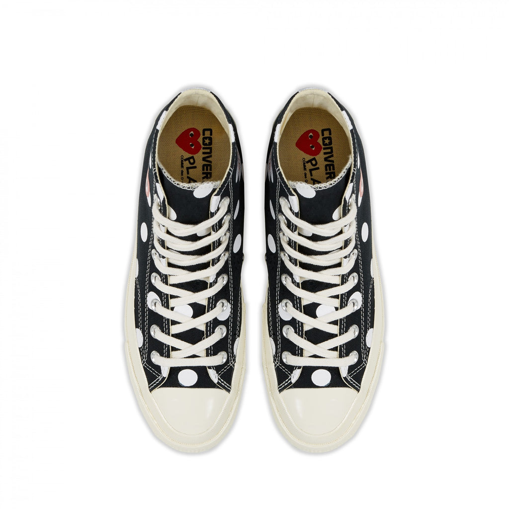 COMME DES GARCONS Play Converse Polka Dot Chuck Taylor All Star '70 HI (Black)