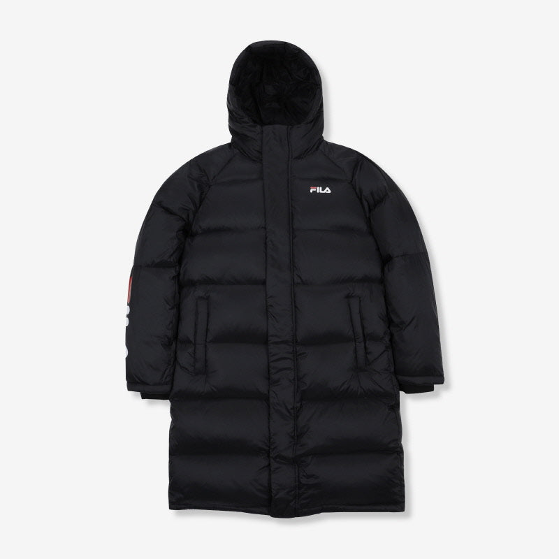 FILA LONG GOOSE DOWN JACKET WITH SLEEVE LOGO 長羽絨