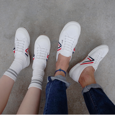 "SUPERGA 2750 AC Flag "" WHITE x NAVY x RED """