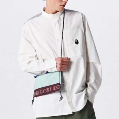 "A BATHING APE COLOR BLOCK SACOCHE  "" WINE """