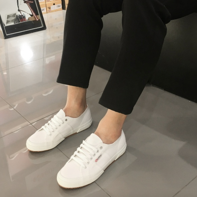 "SUPERGA 2750 Classic "" WHITE x BROWN """