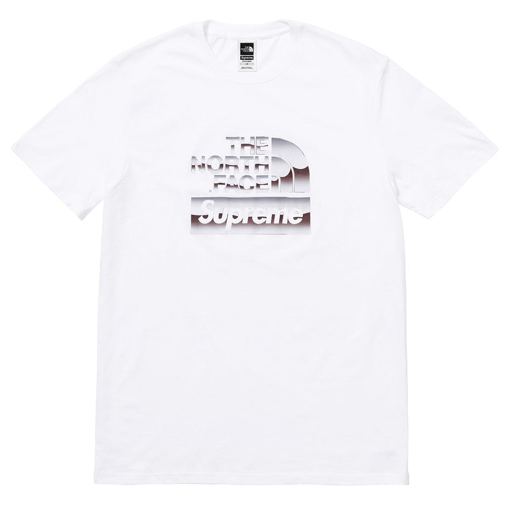 "Supreme x The North Face Metallic Logo Tee "" White """
