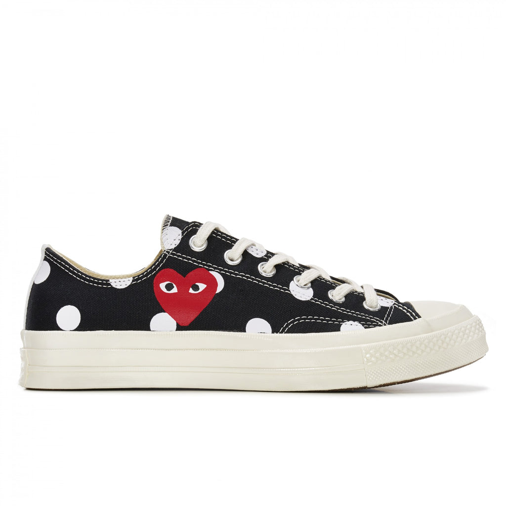 COMME DES GARCONS Play Converse Polka Dot Chuck Taylor All Star '70 Low (Black)