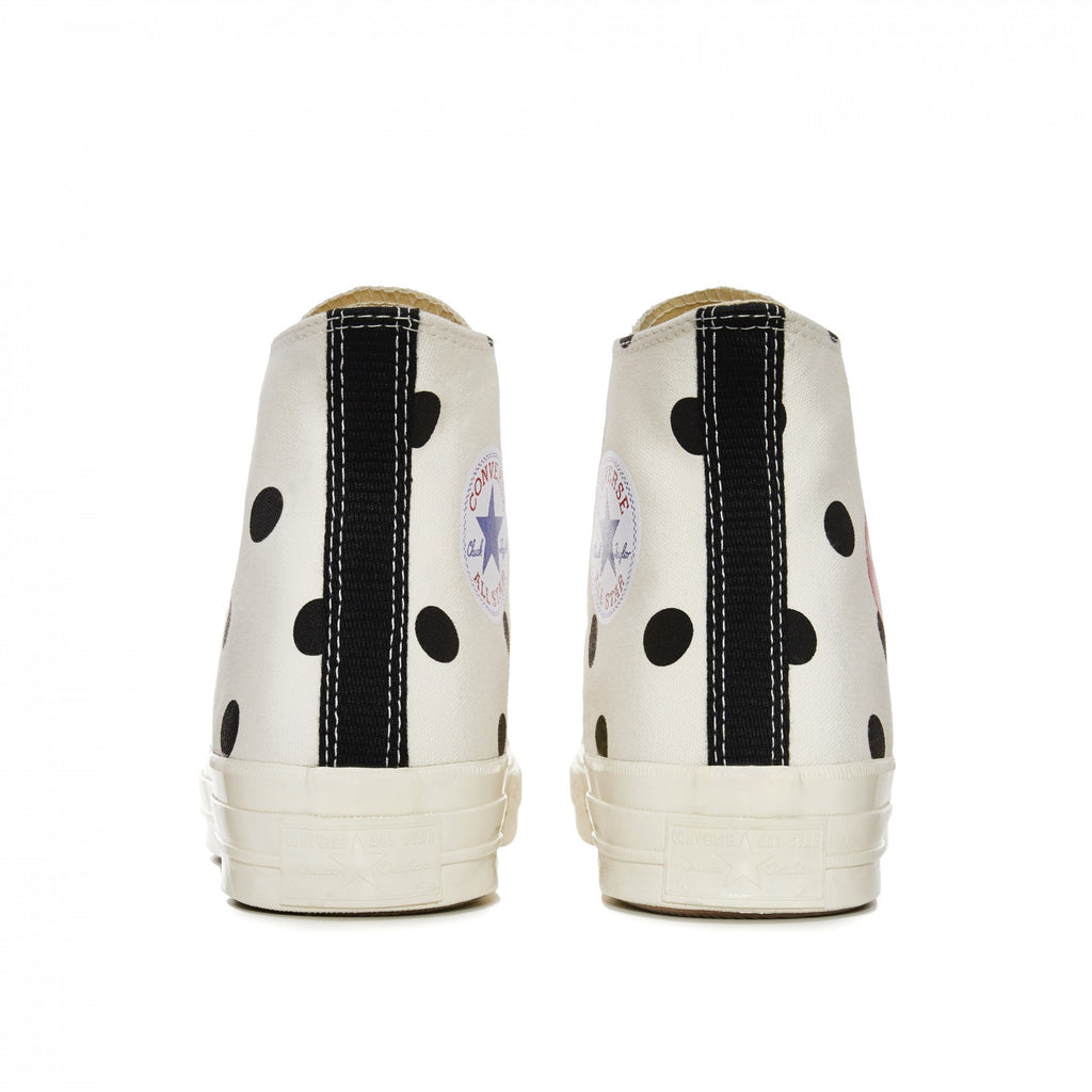 COMME DES GARCONS Play Converse Polka Dot Chuck Taylor All Star '70 HI (WHITE)