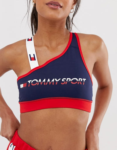 TOMMY HILFIGER SPORT BRA WITH TAPE STRAP