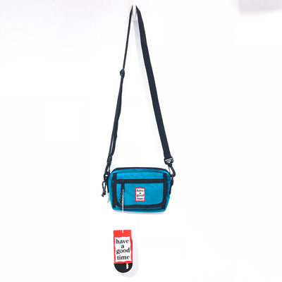 "have a good time frame Shoulder Bag ""Light Blue """