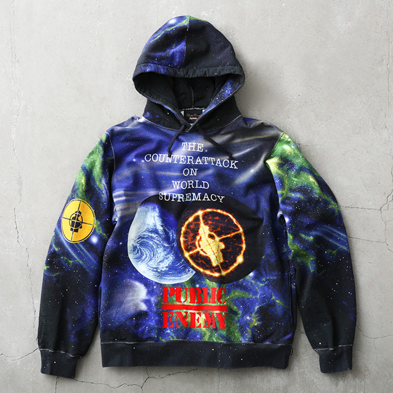Supreme x Undercover x Public Enemy Work Hooded Sweatshirt 18SS