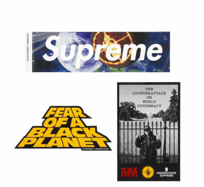 Supreme x Undercover x Public Enemy Sticker Set 18SS