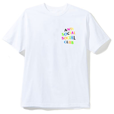 "Anti Social Social Club Logo Tee "" Rainbow "" - Clothing - BlackStory"