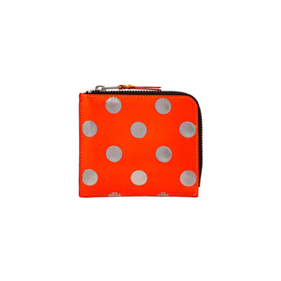 "COMME DES GARCONS DOTS OPTICAL WALLET "" ORANGE """