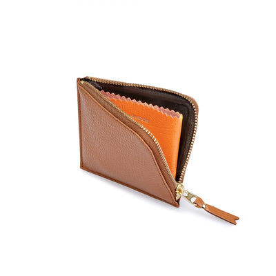 "COMME DES GARCONS COLOR INSIDE WALLET "" BROWN x ORANGE """