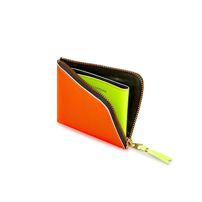 "COMME DES GARCONS SUPER FLUO WALLET "" ORANGE x PINK """