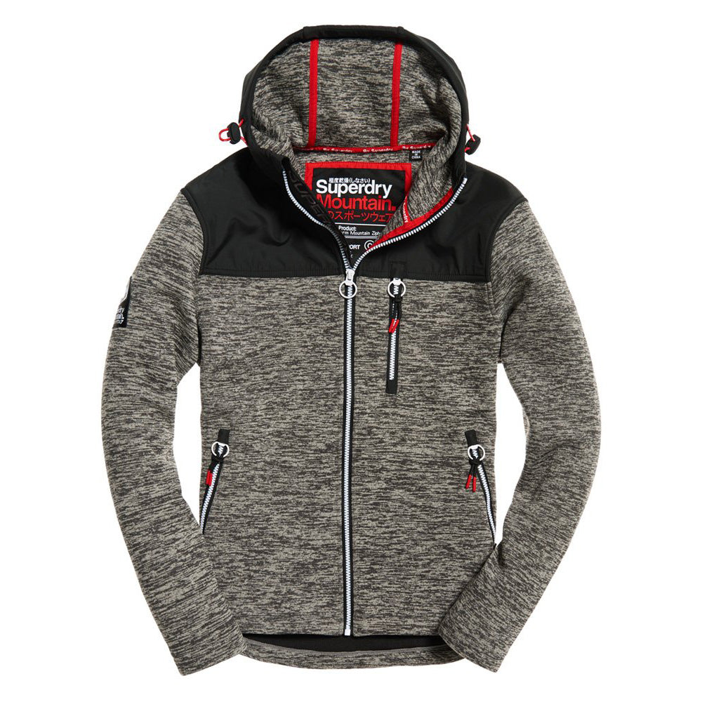 "Superdry Storm Mountain Zip Jacket "" Charcoal """