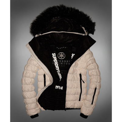 "Superdry WOMEN SD Stealth Ski Down Bomber Jacket "" Ice """