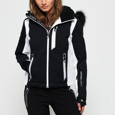 "Superdry WOMEN Sleek Piste Ski Jacket "" Black """