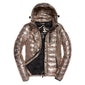 "Superdry WOMEN Fuji Slim Double Zip Hooded Jacket "" Rose Gold """