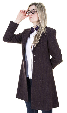 Ladies Eleventh Doctor's Purple Coat - Doctor Who - AbbyShot