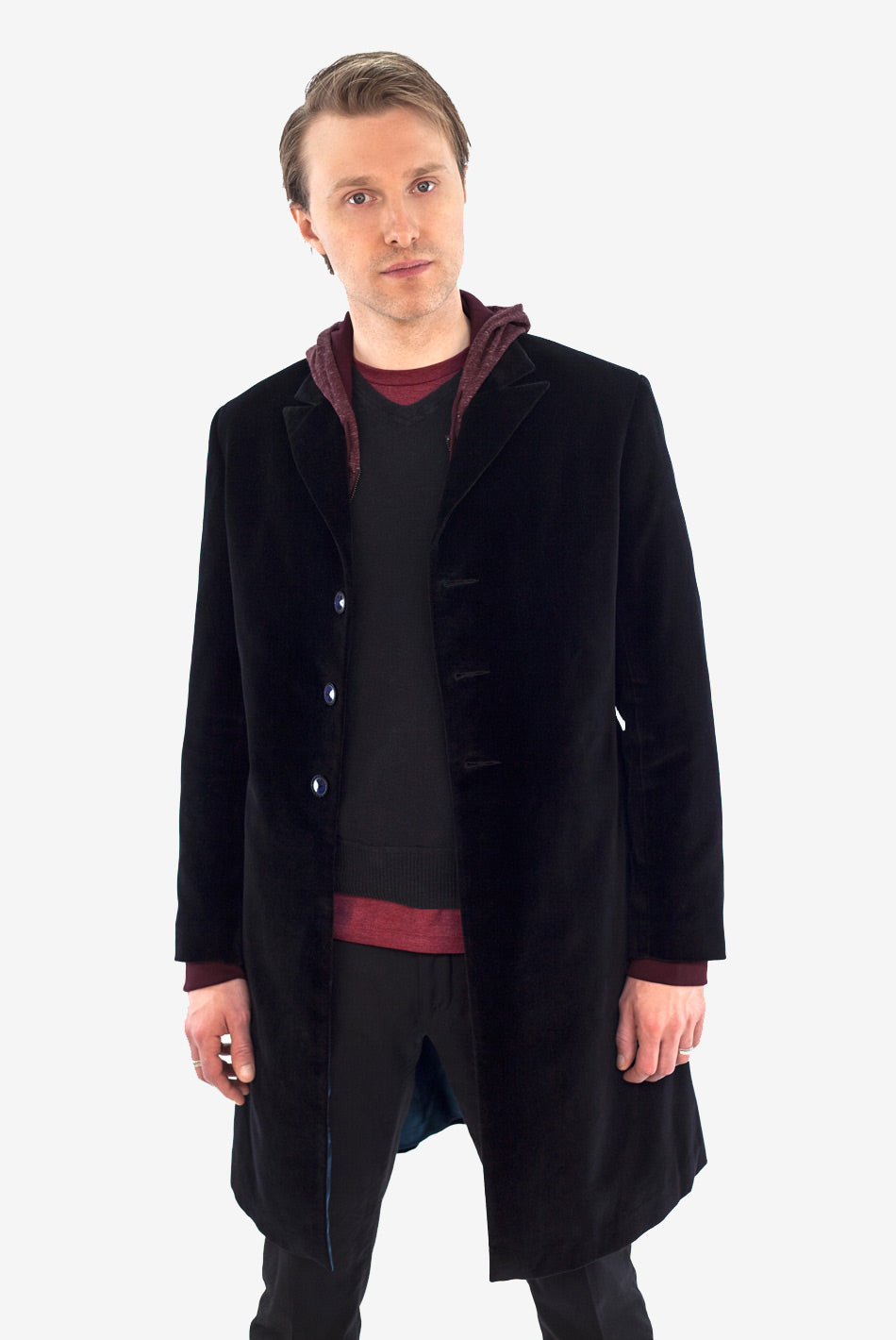 Twelfth Doctor's Black Velvet Frock Coat