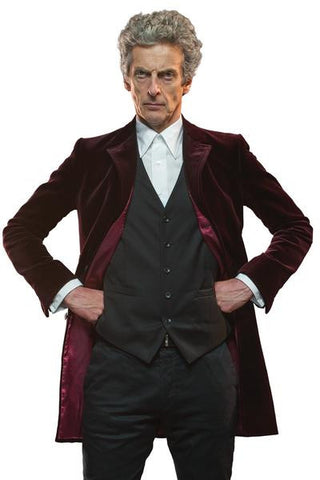Ladies Twelfth Doctor's Red Velvet Coat