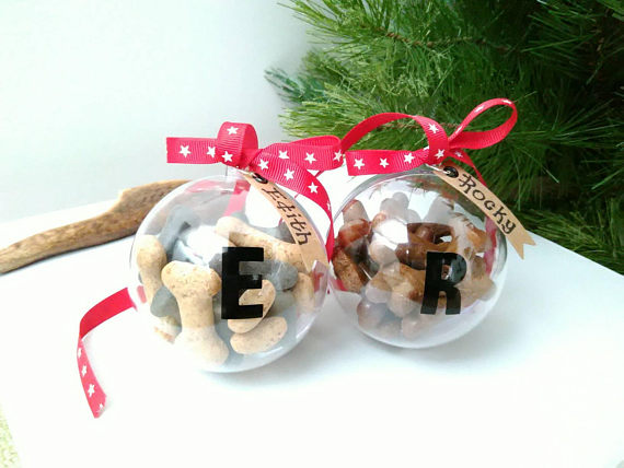 Personalised Cat Treat Hanging Christmas Tree Bauble