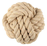 rope ball dog toy in Large