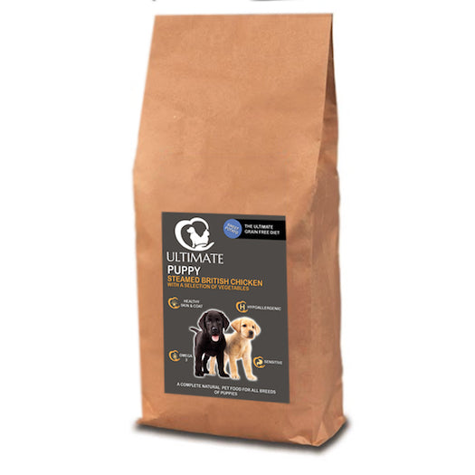 Grain Free Puppy Food Sample - Steamed British Chicken with a Selection of Vegetables