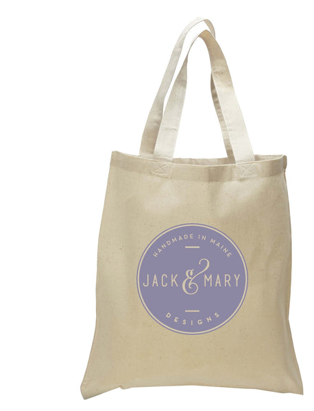 4879cbf0d Canvas Natural Tote Bag - Jack and Mary Designs