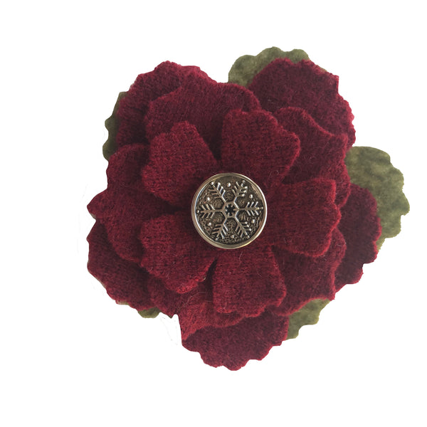 flower pin red