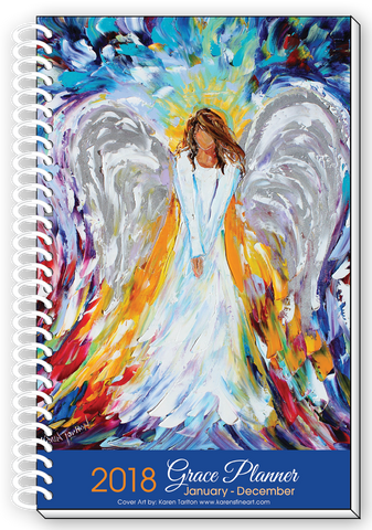 2018 ANGEL DESIGN Inspirational Christian Daily Weekly Monthly Planner