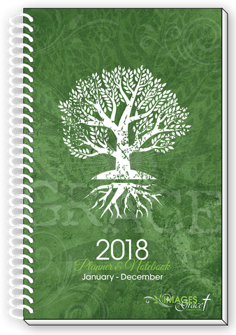 2018 TREE OF LIFE Inspirational Christian Daily Weekly Monthly Planner & Notebook