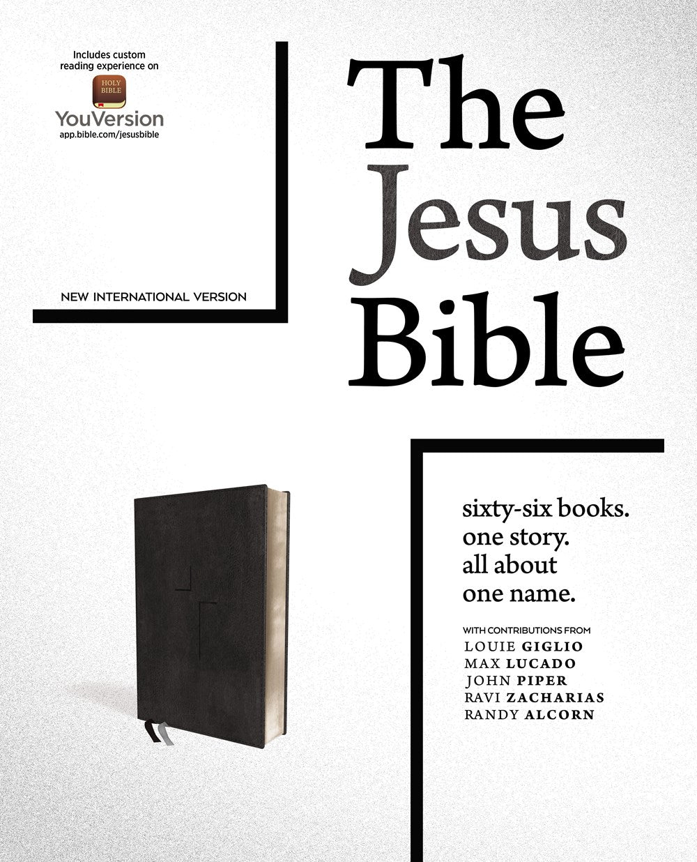 The Jesus Bible - NIV - Black Leather