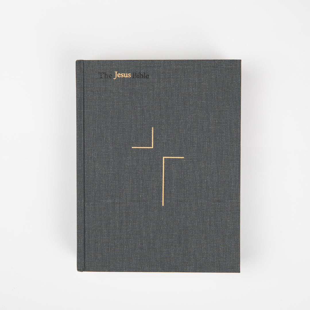 The Jesus Bible - ESV - Charcoal Linen