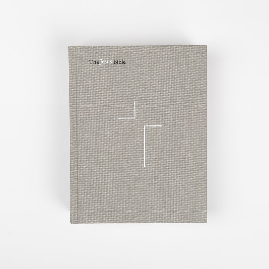 The Jesus Bible -  NIV - Gray Linen