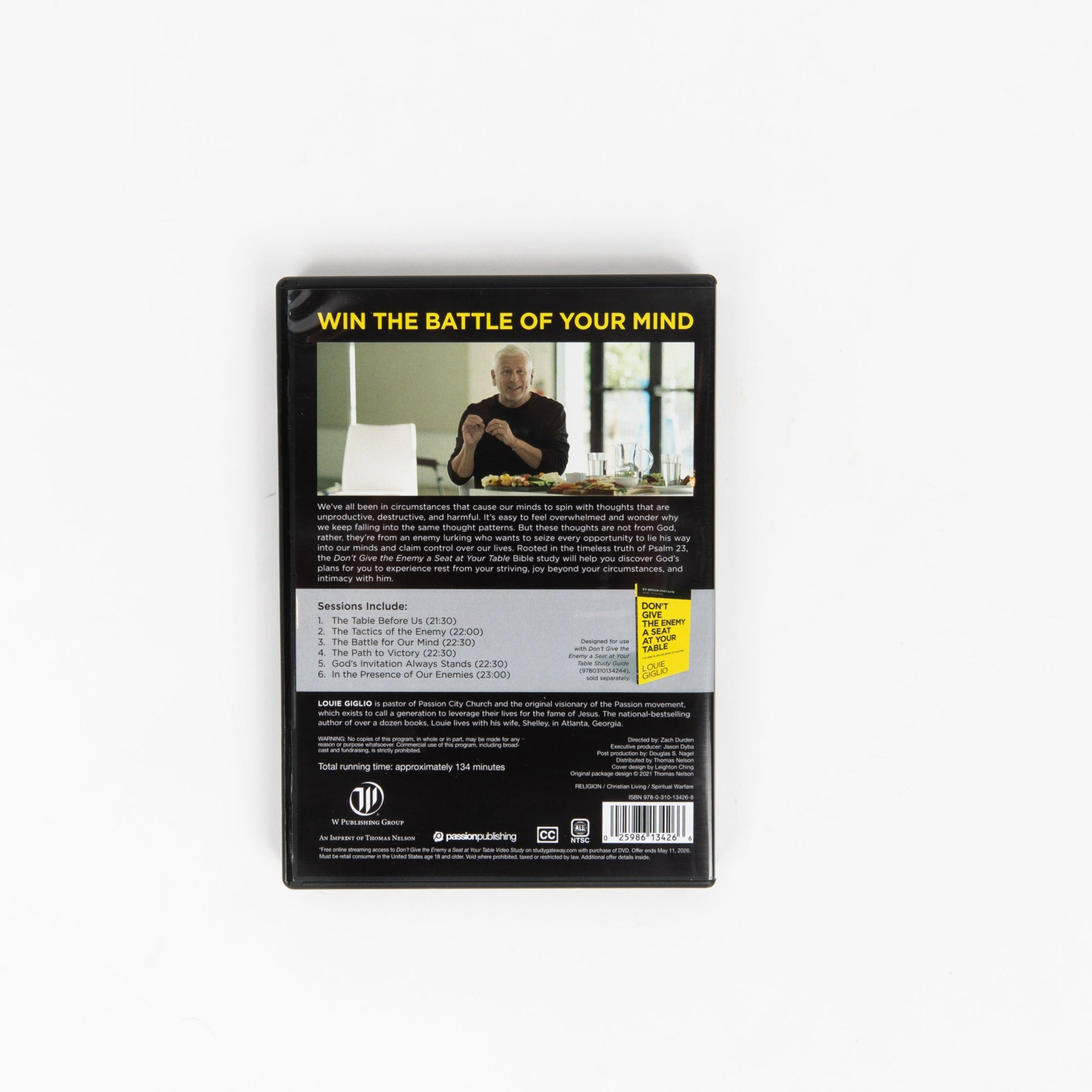 Don't Give The Enemy a Seat at Your Table DVD Study - Louie Giglio