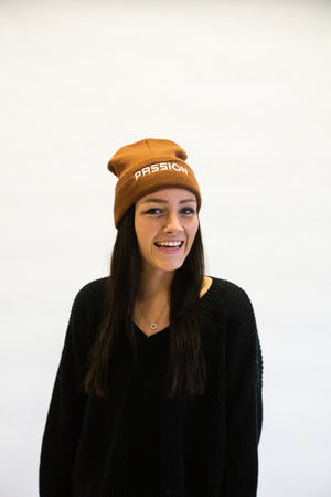 Passion 2020 Brown Beanie