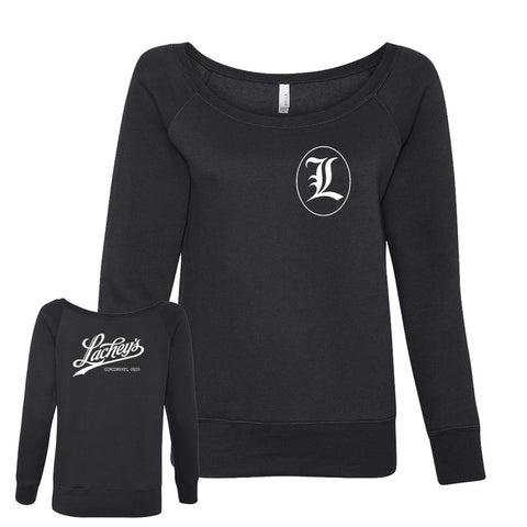 Lachey's Crew Logo Women's Off-Shoulder Sweatshirt
