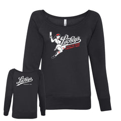 Lacheys Ball Girl Women's Off-Shoulder Sweatshirt