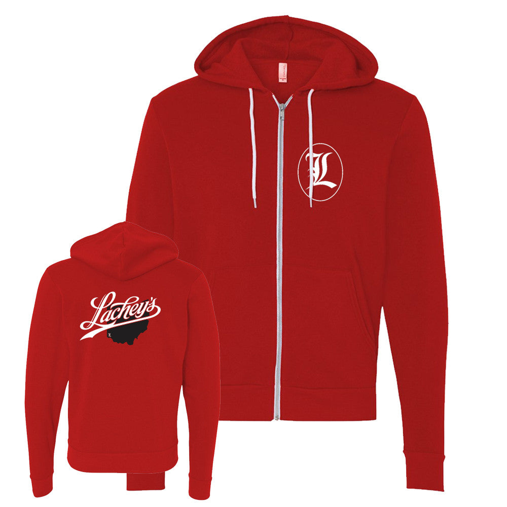 Lachey's Cincy State Zip-Up Hooded Sweatshirt